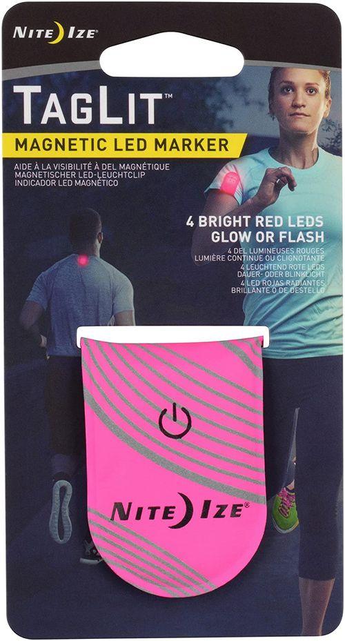 Marcador magnético led color rosado neón/rojo, para la ropa, visibilidad nocturna, duración de más de 70 horas, batería reemplazable