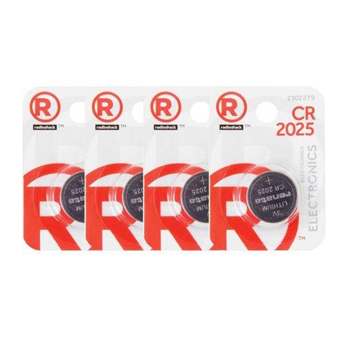 Batería De Litio CR2025 PACK X4 Unidades - Ideal para calculadoras, balanzas, dispositivos médicos y muchos más