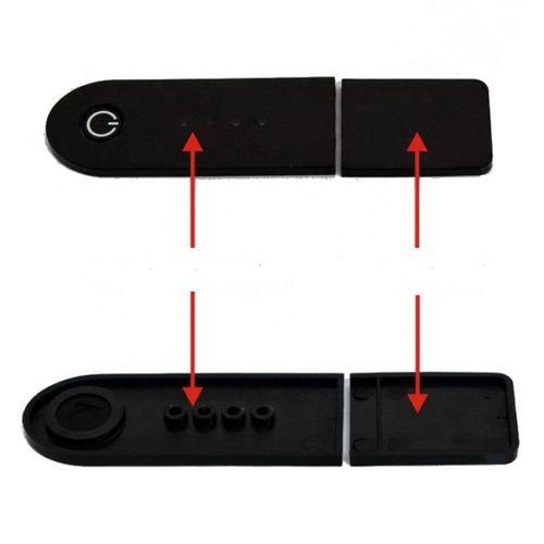 Cubierta de repuesto de panel led para scooter eléctrico Xiaomi M365, color negro, plástico