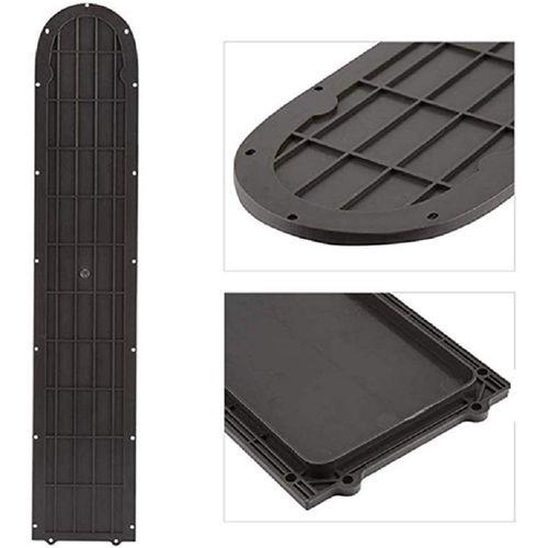 Cubierta de panel inferior para scooter eléctrico Xiaomi M365, protector de batería, plástico, color gris oscuro, 50 x 9.9 cm, antideslizante
