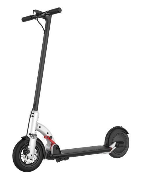 "Scooter eléctrico N4 blanco, autonomía 20km, vel. máx. 25 km/h, motor 300W, llantas de 8.5"" con cámara, tolerancia 100kg, freno de disco, pantalla LED"