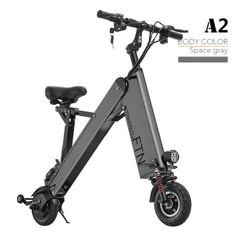 """Scooter eléctrico plegable FTN A2 PRO color gris, vel. máx. 30 km/h, autonomía 30-40 km, llantas 8"""", tolerancia 100 kg, 350W, tiempo carga 4-6 horas"""