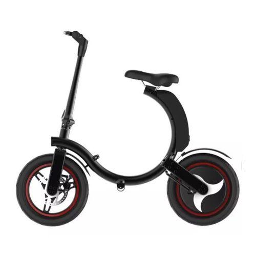 Bicicleta eléctrica plegable Gyroor E-scooter 20-25 km, 300W, vel. 25 km/h, máx. 90 kg, negro