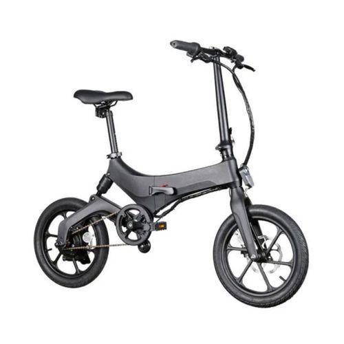"""Bicicleta eléctrica Onebot S6, color negro, autonomía 25-35 km, vel. máx: 25 km/h, llantas de 16"""", motor de 250W, tolerancia 120kg, plegable imantado"""