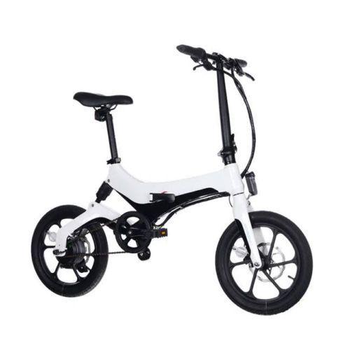"""Bicicleta eléctrica Onebot S6, color blanco, autonomía 25-35 km, vel. máx: 25 km/h, llantas de 16"""", motor de 250W, tolerancia 120kg, plegable imantado"""