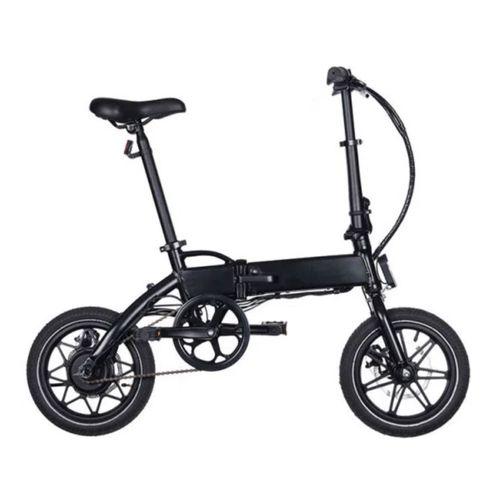 """Bicicleta eléctrica Onebot T3, color negro, autonomía en modo asistencia de 50 km, vel. máx: 25 km/h, llantas de 14"""", motor de 250W, tolerancia: 110kg"""