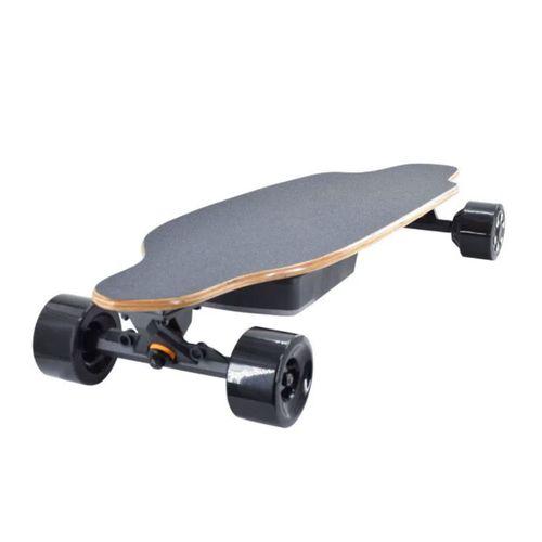 Skateboard eléctrico SK52 color madera natural, autonomía: 20km, velocidad máxima: 40km/h, tolerancia: 120kg, con 3 velocidades y 2 modos de manejo