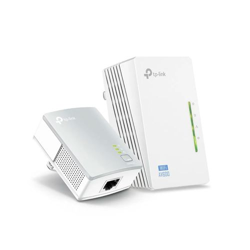 Kit Extensor Powerline WiFi AV600 a 300 Mbps - 2 Adaptadores, Extensor, Repetidores de Red, Amplificador y Cobertura Internet, 3 Puertos, Ethernet