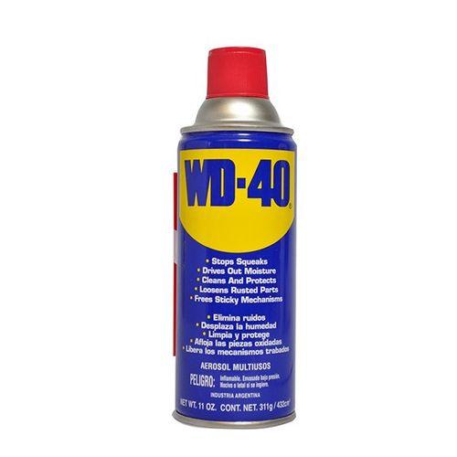 Lubricante multiusos WD40 11oz, aerosol-líquido aerolizado, para partes móviles como ruedas, cadenas y engranajes, protege de la oxidación y corrosión