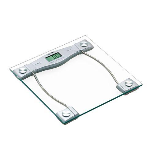 Balanza Electrónica con Plataforma de Vidrio Templado, Pantalla LCD, Autoencendido, Cuenta con 4 Sensores, Soporta Hasta 150 Kg.