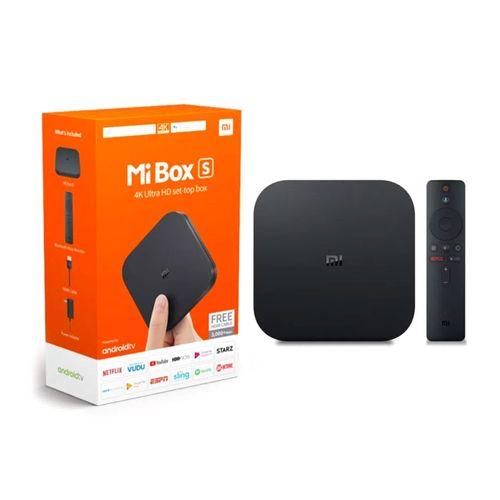 Convertidor a smart TV Xiaomi Mi Box S 4K, control de voz Google Assistant