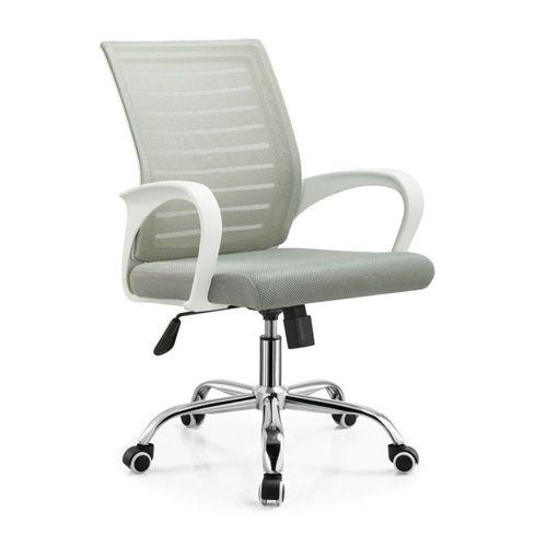 Silla de oficina ejecutiva Proshopper Washington respaldar en malla nylon, 120 kg, gris