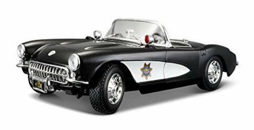 Auto Coleccionable 1:18 Corvette Policía 1957