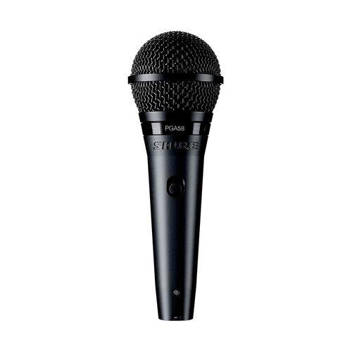 Microfono de mano semiprofesional PGA58-XLR cápsula dinámica, interruptor de encendido/apagado, con cable XLR a XLR