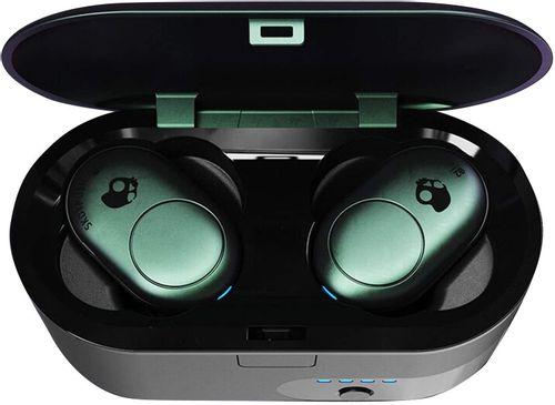 Audífono Bluetooth True Wireless Push Tropical, estuche de carga, almohadillas de aleta para ajuste seguro, micrófono, control de música y llamadas