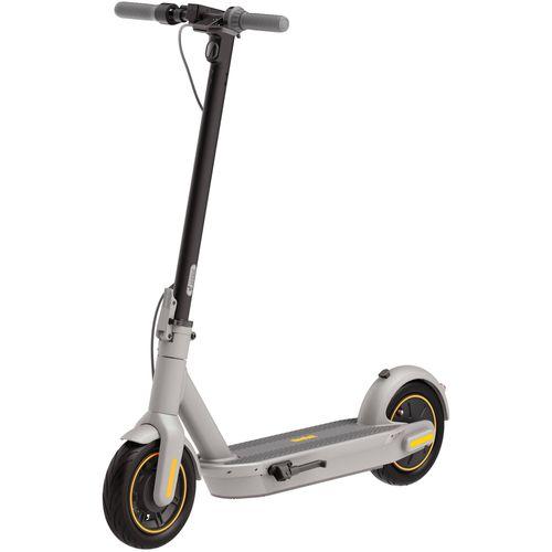 """Scooter NINEBOT MAX G30LP color gris, autonomía 40 km, vel máx 30km/h, llantas de 10"""" tubeless, doble sistema de freno, luz delantera y posterior"""