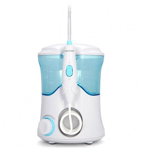 Irrigador Bucal 600 Ml Para Limpieza Dental, 10 Configuraciones de Presión, Incluye 7 boquillas.
