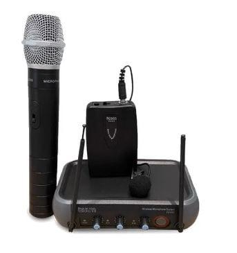 Micrófono de mano y solapa inalámbrico Izuum cobertura de 50 m