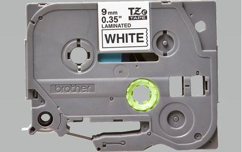 Cinta Rotuladora Texto Negro sobre fondo Blanco 9mm x 8mm - Compatible con PTH110BK