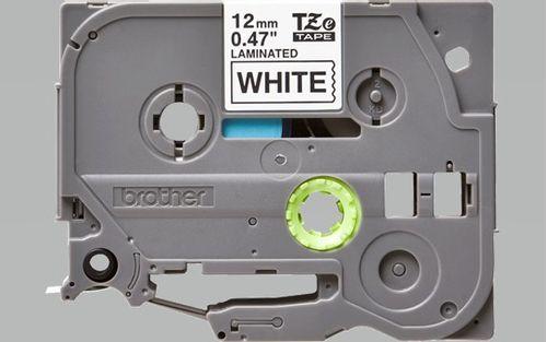 Cinta Rotuladora Texto Negro sobre fondo Blanco 12mm x 8mm - Compatible con PTH110BK