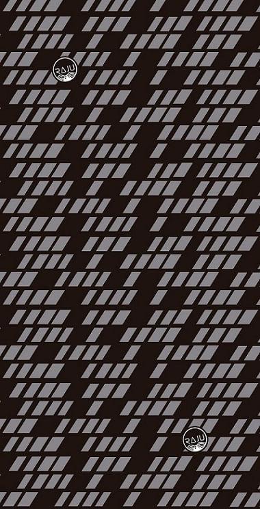 Bandana Diseño Grip Negro, 100% Poliéster, sin costuras, protege del frío, el viento y el sol, más de 10 formas de uso, medidas: 25 x 50 cm