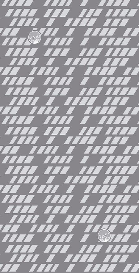 Bandana Raju diseño grip, poliéster, gris