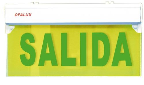 Señalizador Emergencia Acrilico Salida 5Led Opalux