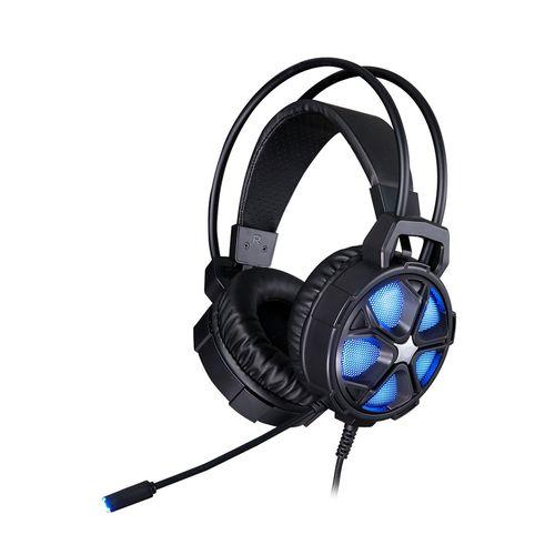 Audífono gaming HP H400 conexión usb y 3.5 mm, 32 ohm, sensibilidad 96 +/- 3 dB, luz LED, compatible PC y consolas