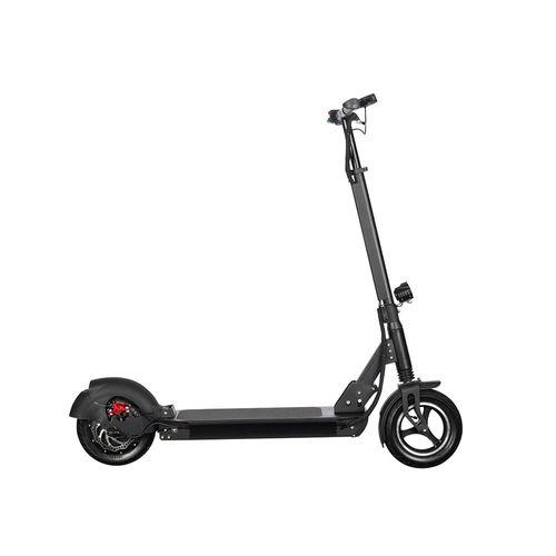 """Scooter Eléctrico Max, negro, autonomía 45 km, vel. máx: 35 km/h, tolerancia: 120kg, llantas de 10"""", motor de 500W, batería 48V - 13A, carga: 9-10 hrs"""