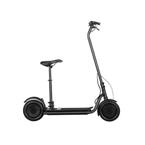 "Scooter eléctrico N7 negro, autonomía 30km, vel máx 25km/h, potencia 300W, llantas de 10"" con cámara, tolerancia 120kg, asiento opcional, pantalla LED"