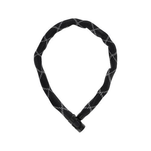 Cadena cuadrada 6210/85 de 6mm negro con funda de malla funcional flexible, tejido resistente a la intemperie y a los líquidos, bloqueo con llave