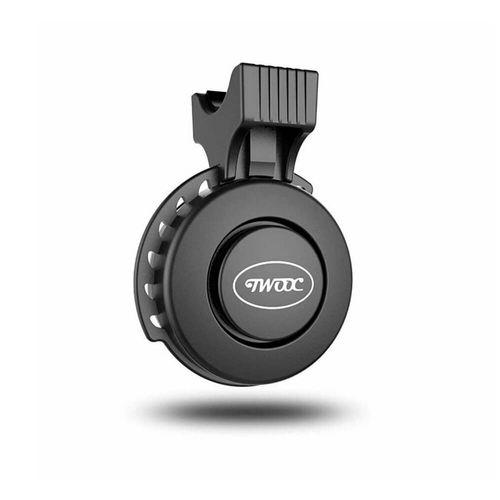 Timbre electrónico para bicicleta y scooter color negro, 100 decibeles, 4 sonidos con volumen regulable, recargable vía micro USB, ABS+PC, ajustable