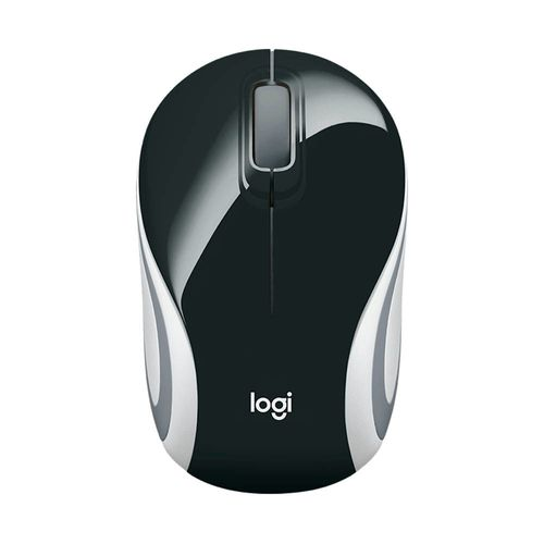 Mouse Mini Inalámbrico M187 3 Botones Color Negro 1000 dpi