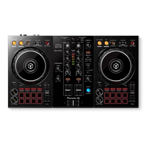 Pioneer DJ Controlador DDJ-400 DE 2 Canales para REKORDBOX, diseño de Club, efectos profesionales Beat FX, tarjeta de sonido incorporada, puerto USB