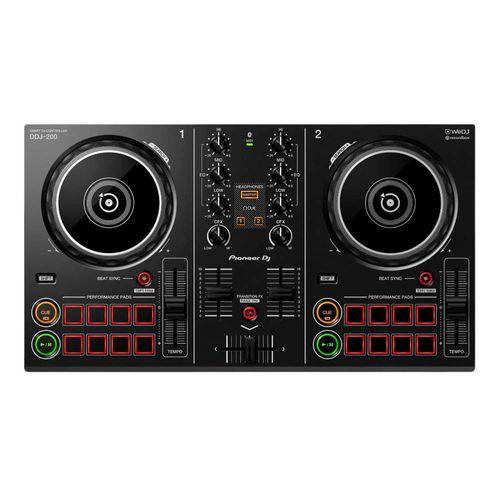 Pioneer DJ Controlador DDJ-200 INTELIGENTE de 2 Canales, puerto USB, Transition FX