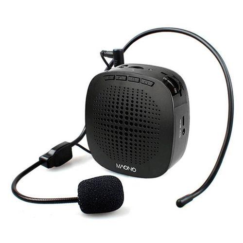 Micrófono de vincha con Amplificador de voz, para presentaciones, guías, entrenadores, 1000mAh , entrada 3.5mm, Micro SD