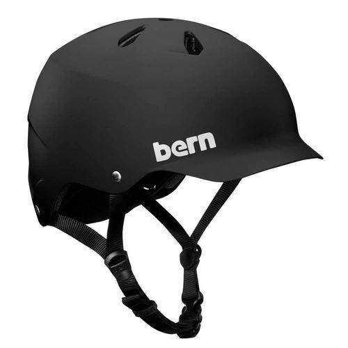 Casco Bern Watts L forro premium, carcasa ABS, espuma EPS, control de humedad, 59-62 cm, negro mate