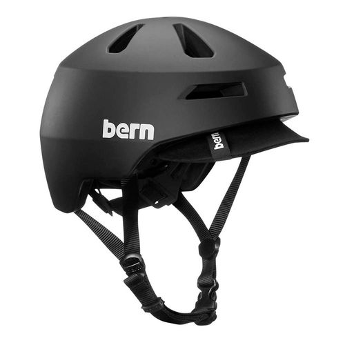 Casco Bern Brentwood 2.0 L estilo urbano, visera suave, 59-62 cm, negro mate
