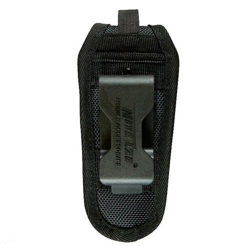 Funda universal para herramientas color negro, nylon balístico resistente, cierre a presión, paneles laterales elásticos, clip giratorio, 8 posiciones