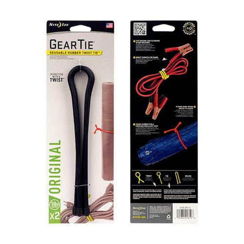 """Plastinudo Organizador negro x 2, 18"""", alambre flexible y resistente con exterior de goma, medidas 457.20 mm x 10.26 mm x 10.26 mm, peso 20g"""