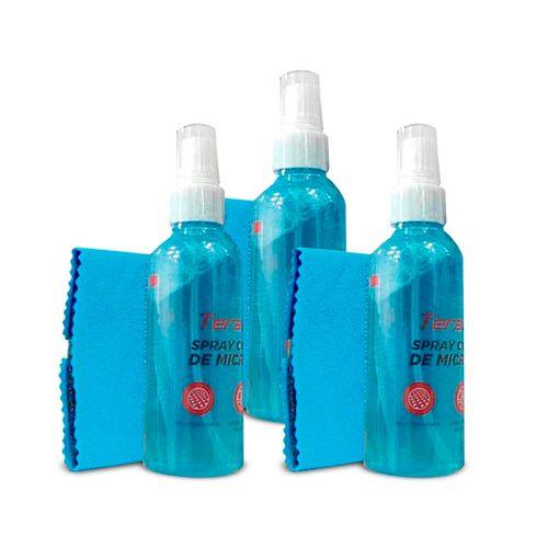 Pack x 3 Kit de Limpieza para Laptop/Tablet/Smartphone 100ml - Incluye spray y paño de microfibra
