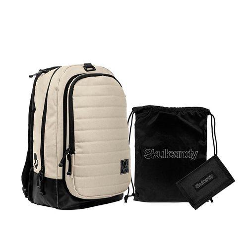 Pack Mochila + Billetera + Carry Sack Color Hueso