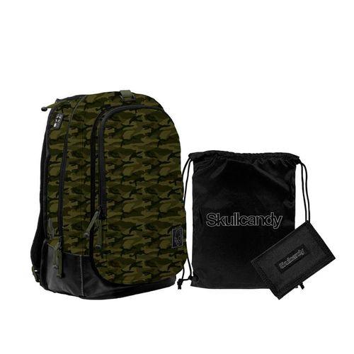 Pack Mochila + Billetera + Carry Sack Color Camuflado