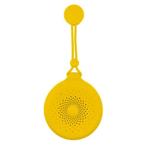 Parlante bluetooth Color Blast con chupón, resistente a salpicaudras, color Amarillo