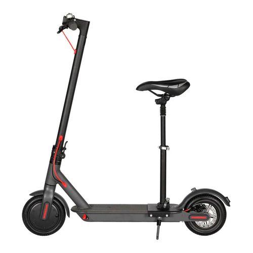 Asiento ajustable negro para scooter eléctrico Xiaomi M365, plegable, tolerancia de carga 100 kg, altura variable 40-66 cm, aluminio, hierro y cuerina