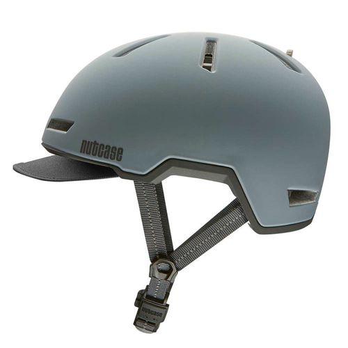 Casco Tracer Shadow talla M/L color gris, carcasa de PC ligera moldeada, espuma EPS protectora, correas reflectantes de 3M, tamaño de cabeza: 56-60 cm