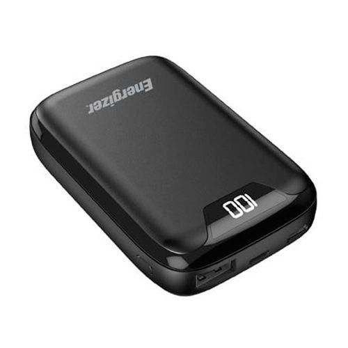 Batería externa de 10,000 mAh pantalla LCD USB-C diseño compacto color negro