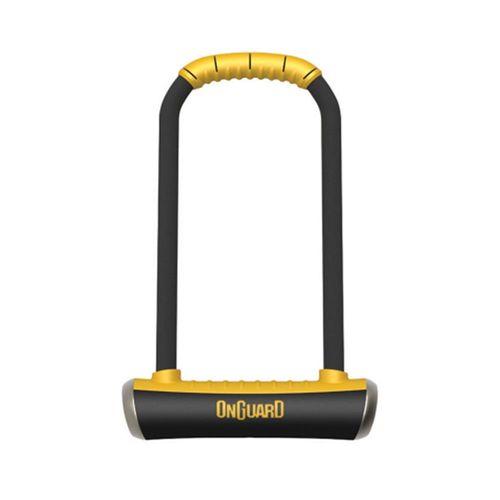 Candado en U Onguard Pitbull LS 8002, acero endurecido, seguridad de 80/100, dimensiones: 115mm ancho x 292mm alto x 14mm diámetro, incluye 5 llaves