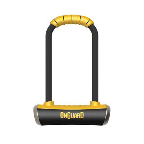 Candado en U Onguard Pitbull Mini LS 8007, rango de seguridad de 80/100, dimensiones: 90mm ancho x 240mm alto x 14mm diámetro, incluye 5 llaves