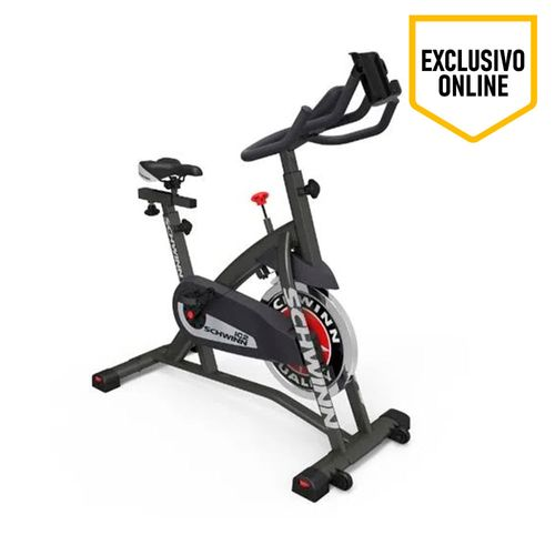 Bicicleta Estacionaria Schwinn IC2, manilla multiposición, siete niveles de resistencia, volante de 14.1kg de resistencia, peso usuario máximo 113 kg